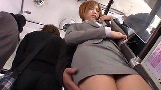 Crazy Japanese girl Yu Namiki in Incredible Bus, Secretary JAV movie