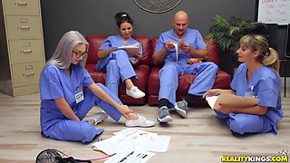 Colleagues Wont Let Noob Nurse Get Fucked In Piece - Jmac And Skylar Vox