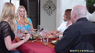 Blonde Milf Sucks His Cock In The Kitchen