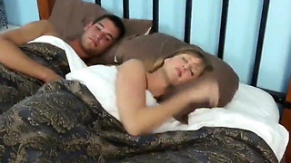 Sharing hotel bed with boss