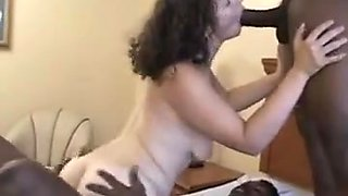Young wife fuck 2 bbc and creampie
