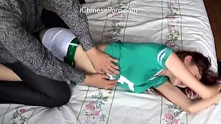 chinese school girl first time make money