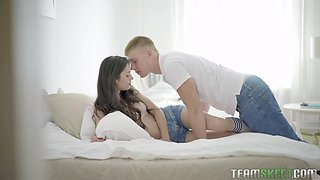 Svelte naturally stuck girlfriend is happy to be anal fucked quite hard