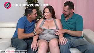 Busty milf in a threesome