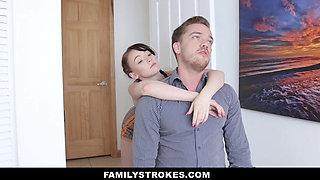 FamilyStrokes - Stepbrother Fucks Stepsister Athena Rayne