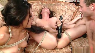 2 girls handcuffed and dominated