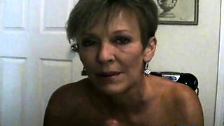 Hot Amateur Mature Cougar POV Smoking BJ