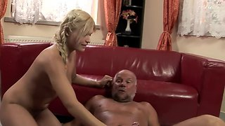 The old bloke is one perverted piece of a man who loves butt licking