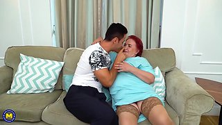 Curvy Granny Having Kinky Sex With A Muscled Stud
