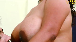 Indian aunty Sucharita has sex with husband, big boobs