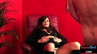 CFNM shrink voyeur gives JOI to horny patient