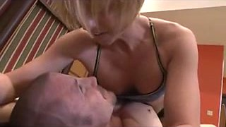 Mixed wrestling man jerked and fucked WF.