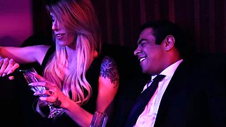 Tranny Casey goes wild in the VIP room