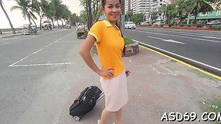 Vigorous teen brunette maid gets banged