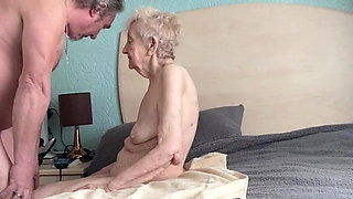 Sexy grateful old granny