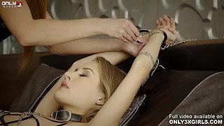 Amirah Adara punishes her slave Tiffany Tatum