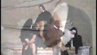 Italian nuns getting wild in a group sex scene