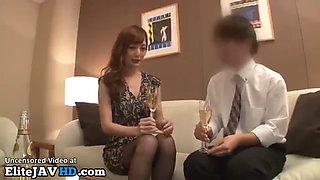 Jav sexy girl in stockings fucks her office boss