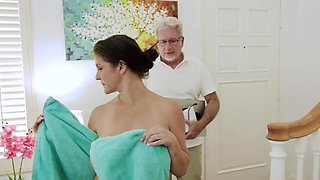 Shaved pussy wife Coralyn Jewel enjoys getting fucked in missionary