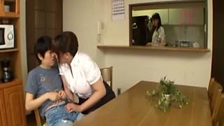 Japanese Busty Tutor seduces her geek Student