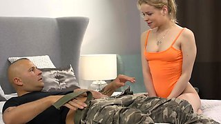 Virgin Olesya Kisbeka patiently waits to suck a cock