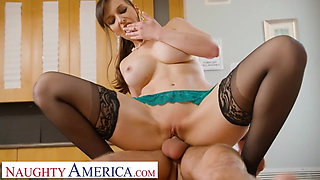 Naughty America - Lexi Luna gives student a helping hand