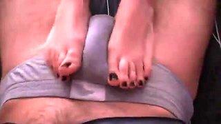 footsie on panties