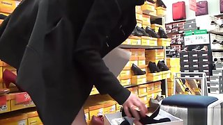 Horny Shoe Shopping In FF Nylons