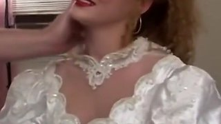 Naughty bride doggystyled passionately before eating cum