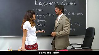 InnocentHigh Asian schoolgirl teen Alliyah Sky shaved pussy