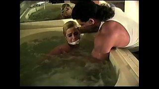 Blond Bathtub Bondage Dunk