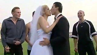 Bride Sluts - New Bride Celebrating Gets Gang Banged in Public Park