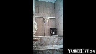 Hidden cam in women's restroom.