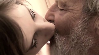 Old Young Big Cock Grandpa Fucked Teen lick thick dick