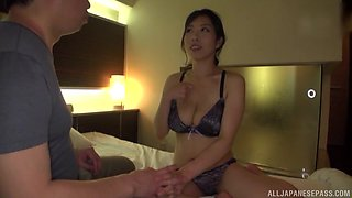 Gentle fucking at home with large tits housewife Kuwata Minori