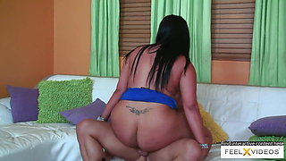 Latina milf with big ass and tits gets a really good fuck