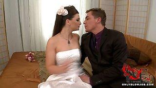 Bride blows all her groomsmen!