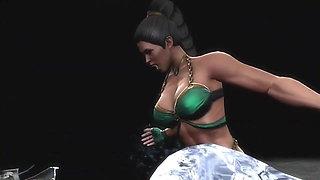 MK9 Jade vs Sub-zero Ryona in Freecam (1)