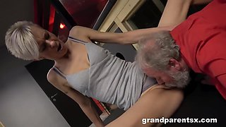 Dungeon Threesome With Young Crucified And Tied Up Redhead, Dominant Mom And Master - 18 Years Old