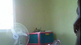 My Black Ebony Dominican Maid Hidden cam