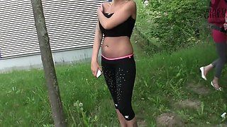 Ball busting outdoors
