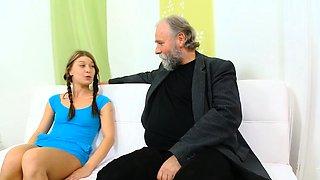 Sex appeal russian teen bimbo enjoys fanny hammering