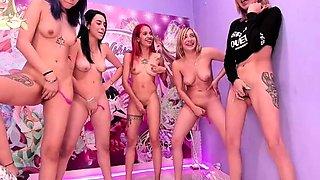 Wild lesbian camgirls share their passion for masturbation