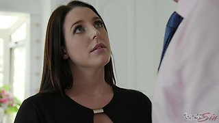 Cheating wife Angela White having sex with her boss for a raise