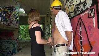 18yo Teen And Horny Gilf Threesome Porn
