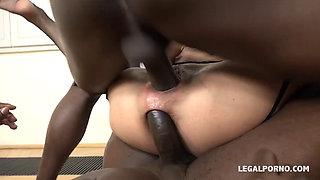 European Sexy MILFs Sasha and Lyna in Nasty Crazy Anal Orgy With Three Massive Black Dicks
