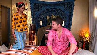 Massage Rooms Hot Thai masseuse takes hard cock