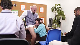 Mega hot office pounding for the busty secretary