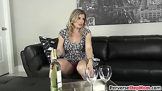 Horny blonde stepmom gets pussy drilled raw