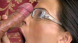 Couch fuck for girls with glasses